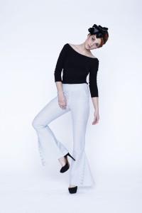 bluzka i spodnie Pierette (len z bawełną)